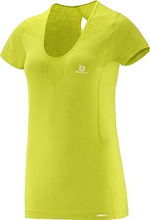 Salomon Elevate - Camiseta sin Costuras para Mujer amarillo ...
