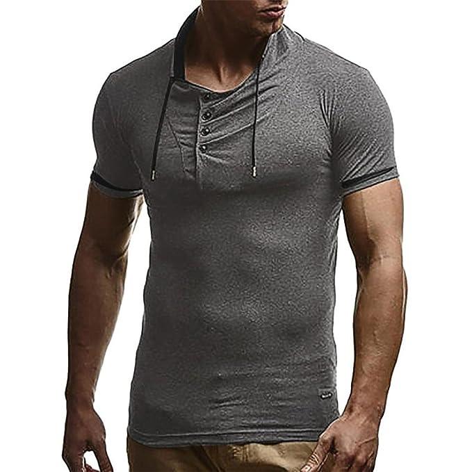 83d871e50439a0 Moonuy Männer Schwarz T-Shirt Lässige Mode Persönlichkeit Casual Schlank  Solide Kurzarm Top Frühling Sommer