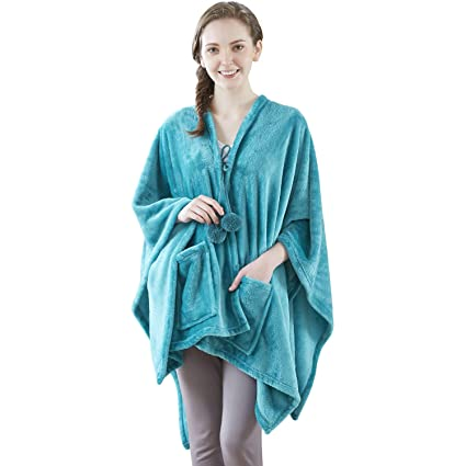 Image Unavailable. Image not available for. Color  Angel Wrap Cozy Plush  Fleece Throw Travel Blanket ... 877879feb