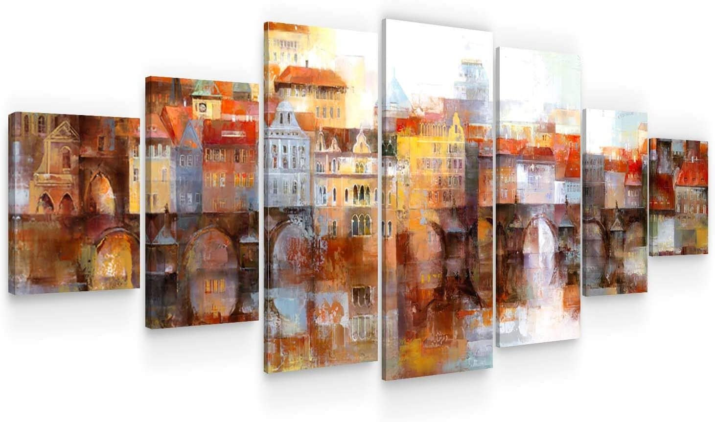 Startonight Large quality assurance Canvas Wall Art Abstract - Behind Town Excellence Old The