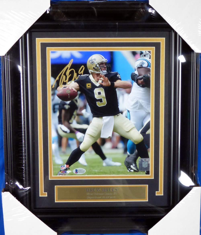 Drew Brees Autographed Framed 8x10 Photo New Orleans Saints Beckett BAS