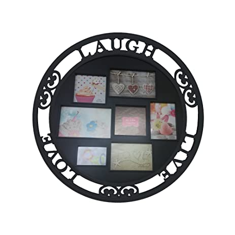 Amazon.com - Round Family Dimensional Collage Picture Frame 7 ...