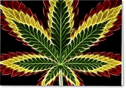Amazon all occasions greeting cards rasta marijuana single all occasions greeting cards rasta marijuana single card m4hsunfo