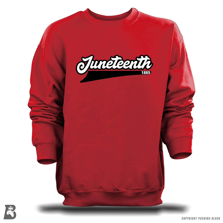 Pushing Black Juneteenth 1865 T-Shirts Tank Tops Sweatshirts Hoodies and More Kitchen Aprons