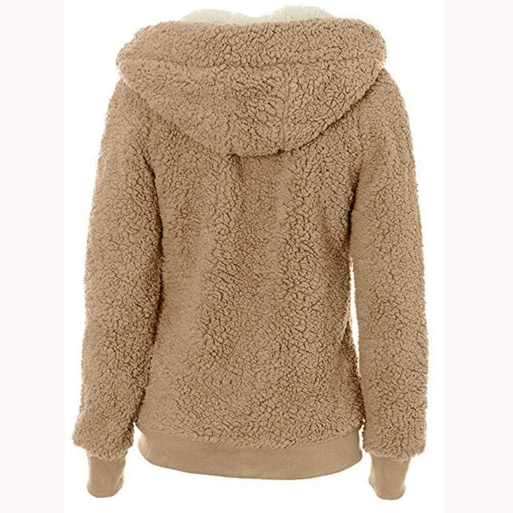Cardigan Women Winter Vintage Coat Jacket Hoodie Winter Sweat Fashion Brands Jacket Autumn Winter Coat Soft Teddy Hooded Jacket Hoody Jacket Coat with Pocket Zipper Cardgain