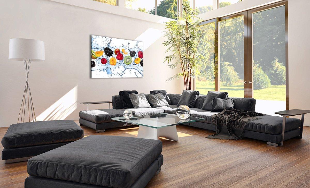 Image sur Verre GAA70x50-2675 2675 prete a Suspendre D/écoration Motif Moderne Pret a accrocher Tableau en Verre Un /él/ément Tableaux pour la Mur 70x50cm Impression sur Verre