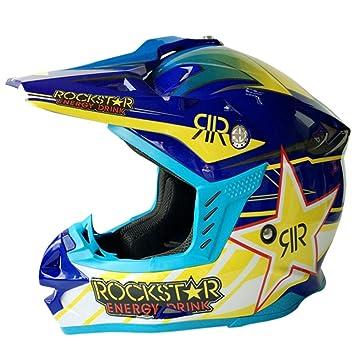 SHANLY Unisex Motocross Allround Helmet CE/Dot Certified Open-Face BMX Cascos Ciclismo Off