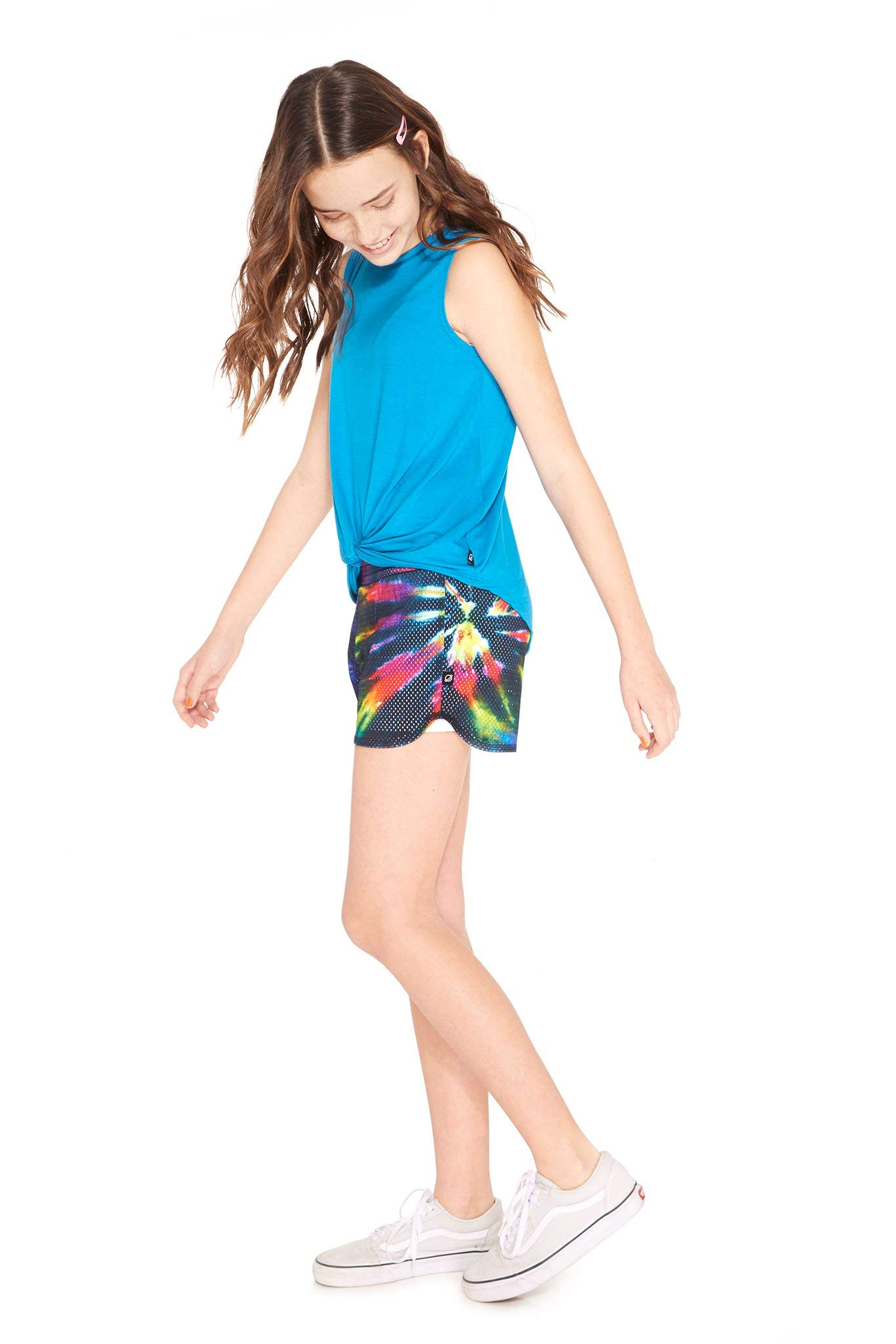 Terez Girls Classic Mesh Shorts (Tie Dye, 4 - Small) by Terez (Image #2)