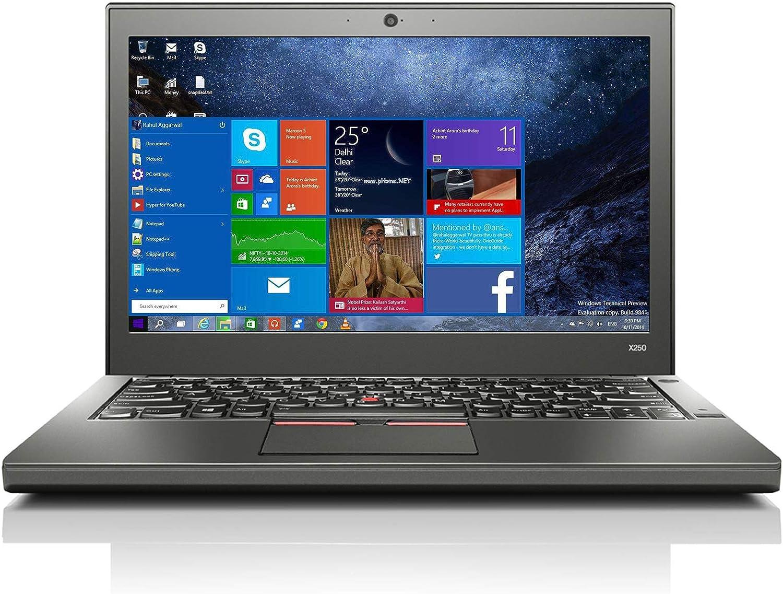 Used Well Thin kpad x250 Laptop Intel i5-5300U 4GB RAM 500GB HDD 12.5-inch Ultrabook, WiFi Webcam Windows 10