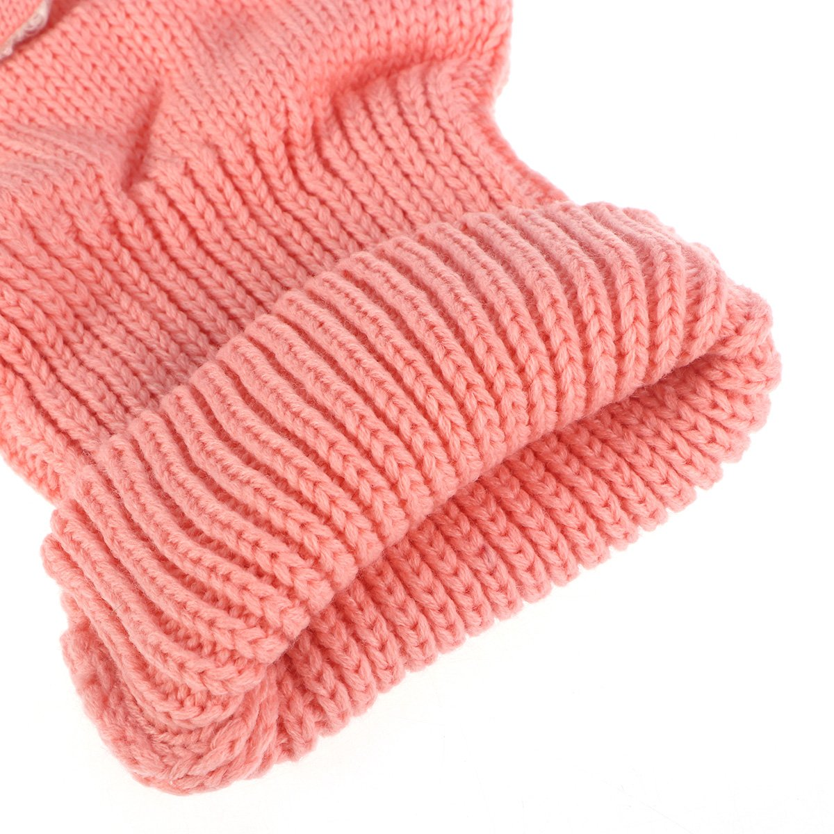 Super Keep Warm Baby Girls Boys Winter Hat Scarf Earflap Hood Scarves Pink