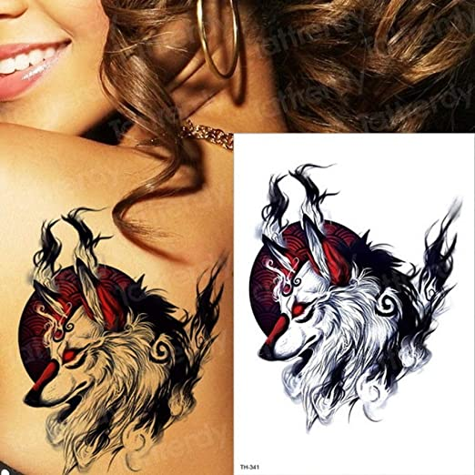 3 unids-Brazo Grande Tatuaje Impermeable Tatuaje Temporal Samurai ...