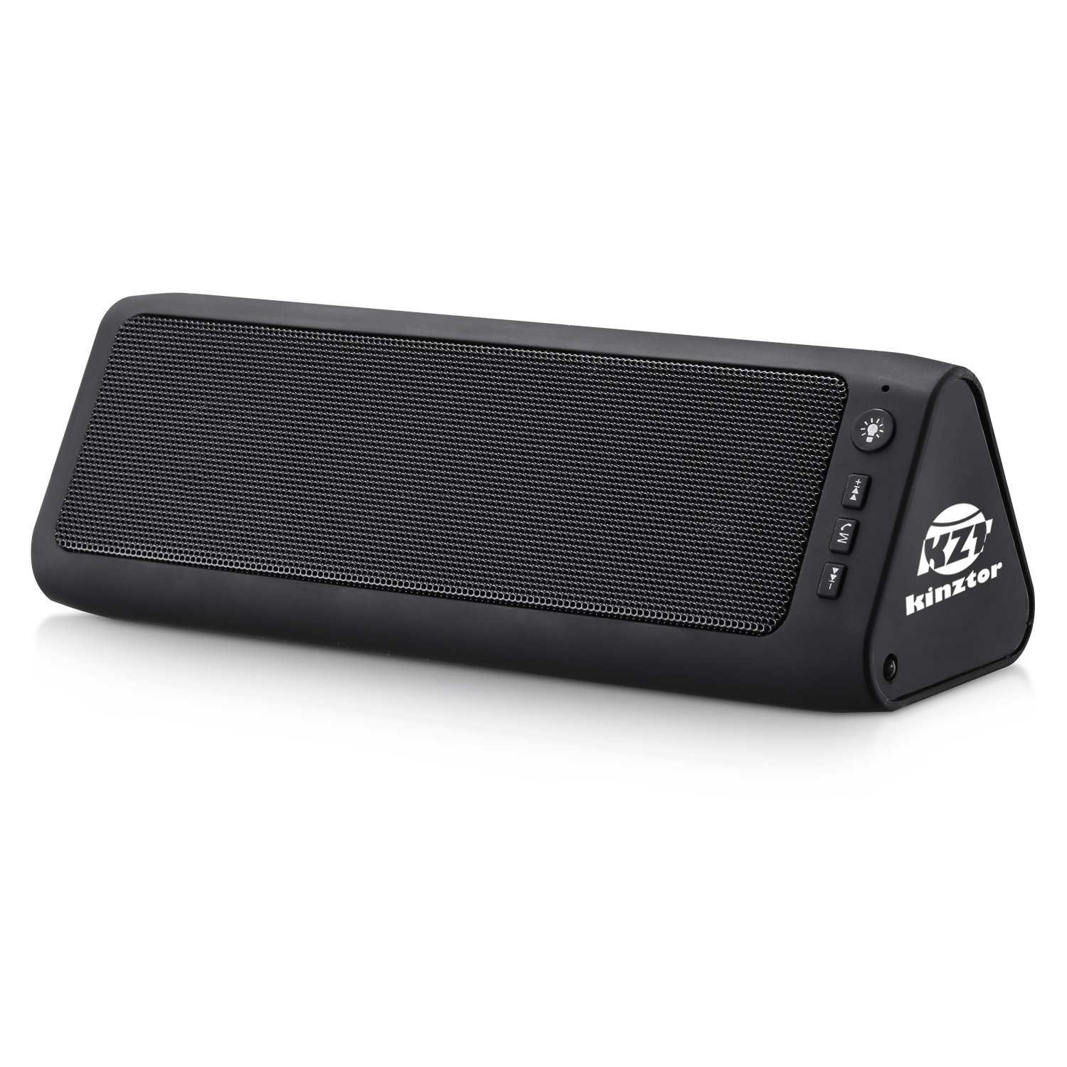 Portable Bluetooth Speaker Kinztor Angle 3 Louder Volume 6W Power Perfect Wireless Speaker with LED light for Home Travel Perfect Wireless Speaker for iPhone, Samsung and more (Black)