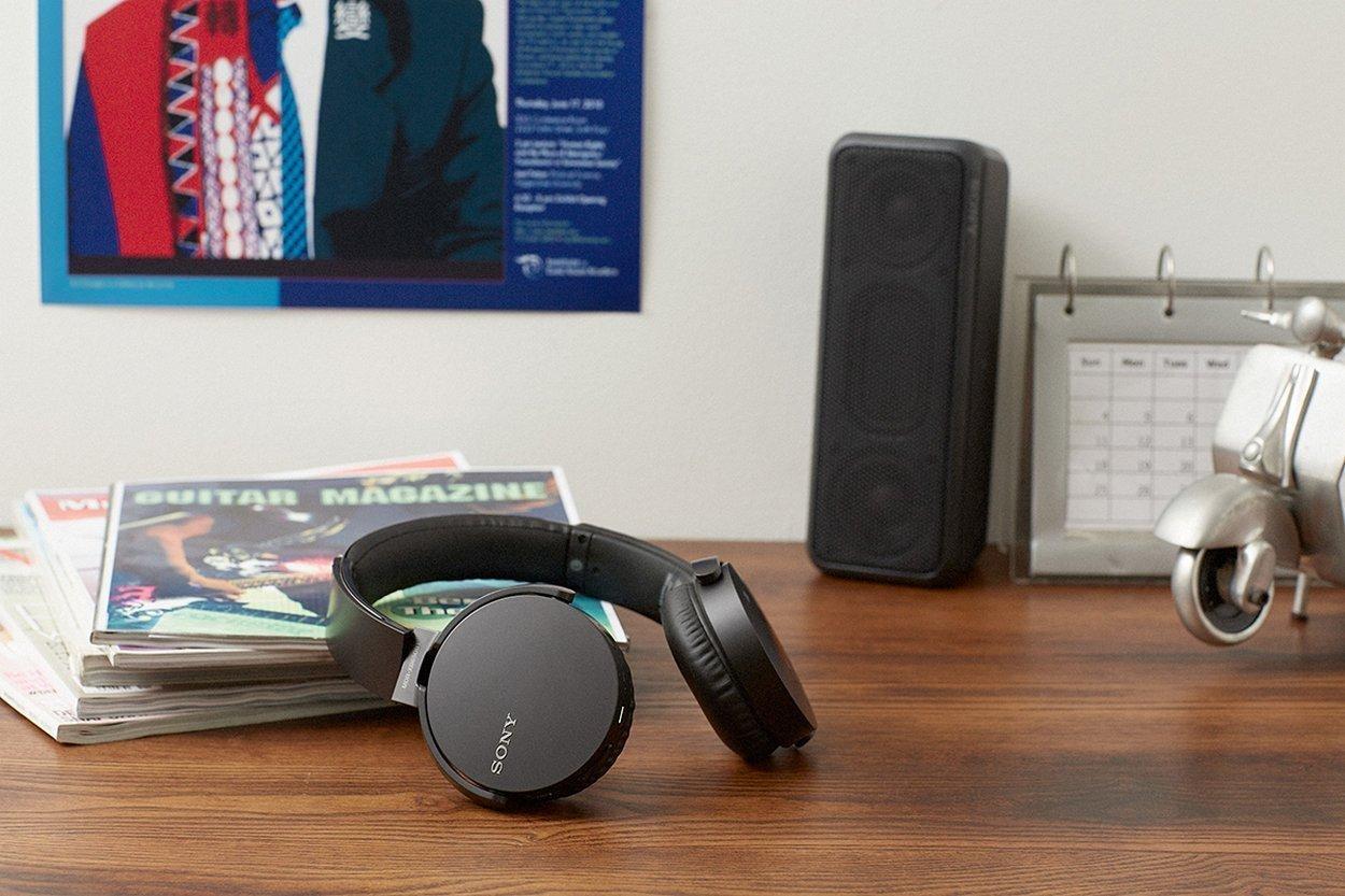 Sony MDR-XB650BT/B Extra Bass Bluetooth NFC Wireless Headphones - Black (Renewed) by Sony