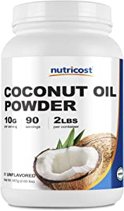 Nutricost Coconut Oil Powder 2 LBS (90 Servings) - Non-GMO and Gluten-Free - Premium Quality
