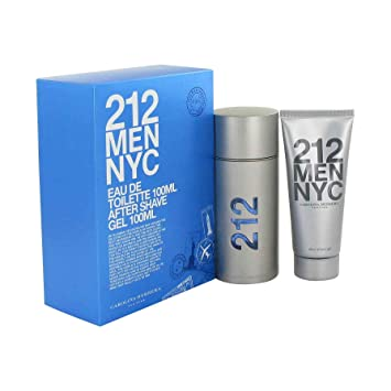 c12221c8c3 Amazon.com : 212 by Carolina Herrera Gift Set - 3.3 oz Eau De Toilette  Spray + 3.3 oz After Shave Gel : Fragrance Sets : Beauty