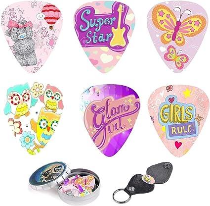 12 púas de guitarra con mariposas rosas para niños y niñas – Juego ...