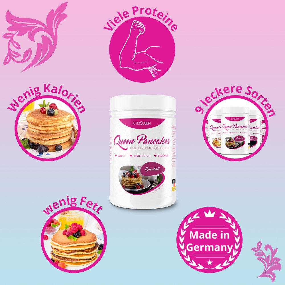 GymQueen Mezcla para preparar tortitas proteicas, Pancake Mix - Tortas proteícas Neutral, 500 gr.: Amazon.es: Alimentación y bebidas