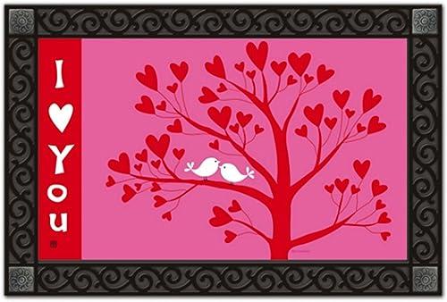 I Love You Valentine s Day Doormat Indoor Outdoor MatMates 18 x 30 Holiday