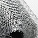 24in×50ft Hardware Cloth Galvanized - Hot Dip Galvanized Welded Wire Mesh - Equipped with Dipped Gloves - Suitable for…