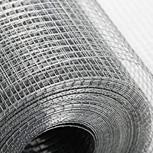 24in×50ft Hardware Cloth Galvanized - Hot Dip Galvanized Welded Chicken Wire Mesh - Equipped with Dipped Gloves - Suitable for Garden Fences, Poultry Breeding Nets, Protection Nets, Ventilation Nets