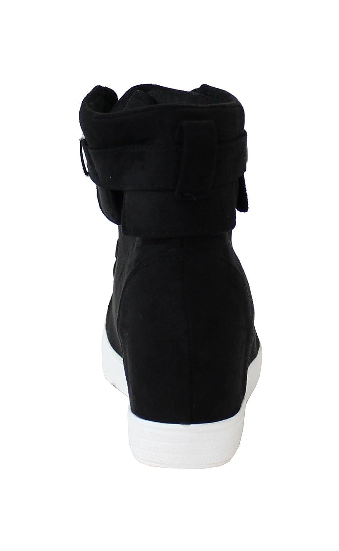 b32b3b245b4 Basket Compensée Style Daim - No Name - Ultra Tendance - Noir - 38   Amazon.fr  Chaussures et Sacs