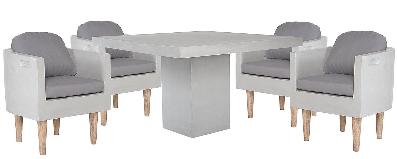 matodi square gartenm bel set 5 teilig fiberstone in betonoptik g nstig kaufen. Black Bedroom Furniture Sets. Home Design Ideas