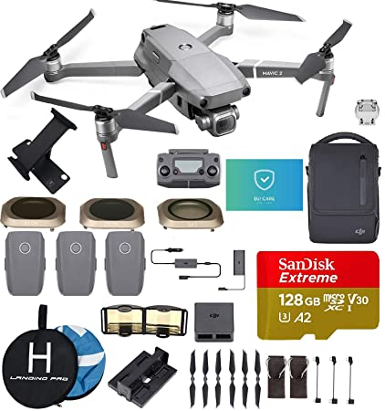 04481cc0cc5 DJI Mavic 2 Pro (20 MP Hasselblad Camera) with Fly More Kit (3 Batteries) with  DJI Care Refresh, included the most Wished for Accessories (ND Filters, ...