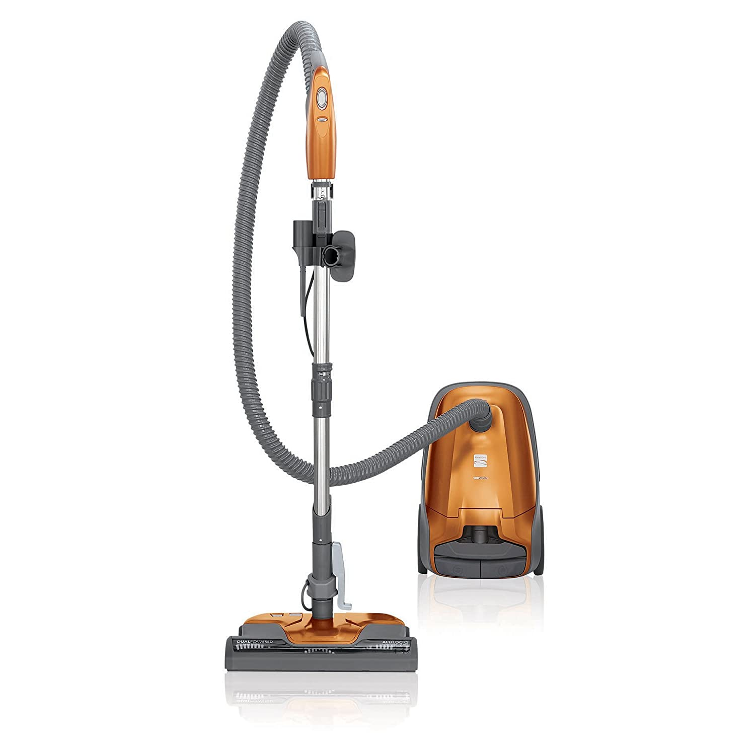 Kenmore 81214 Multi-Surface Bagged Canister Vacuum Cleaner with Cord Rewind, Orange