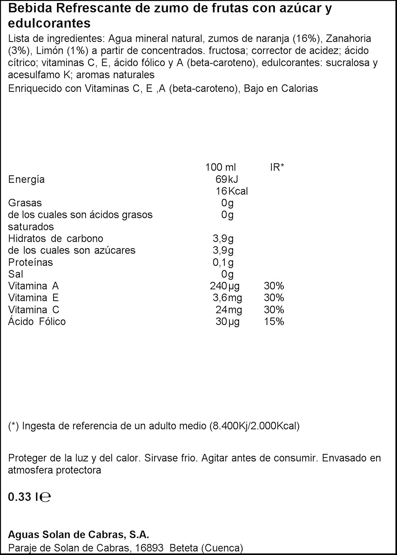Solán De Cabras - Multifrutas - Bebida Refresco Multifrutas - 330 ml - , Pack de 6: Amazon.es: Alimentación y bebidas