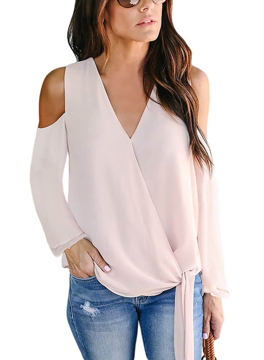 67d02ac9710 Wholesale Price  95%polyester+5%spandex. Pair With White Jeans And a Travel  Bag For a Cool Look Stylish Blouses Are Perfect To Elongate a Slim Figure