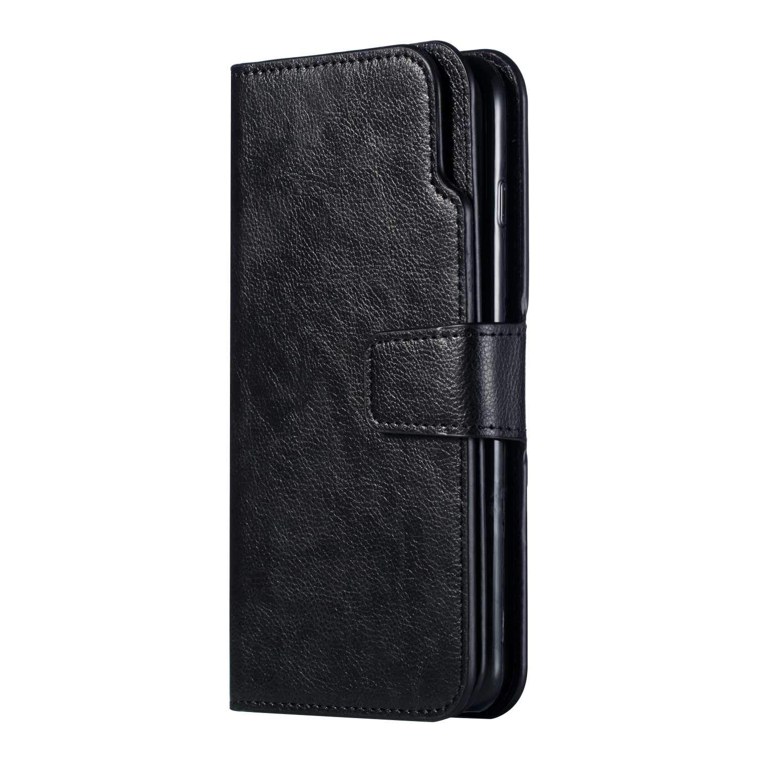 Fermeture magn/étique Fonction Stand Noir Portefeuille Etui 9 emplacements pour Apple Cartes et Monnaie DENDICO Coque iPhone 6 Plus//iPhone 6s Plus Etui en Cuir Housse