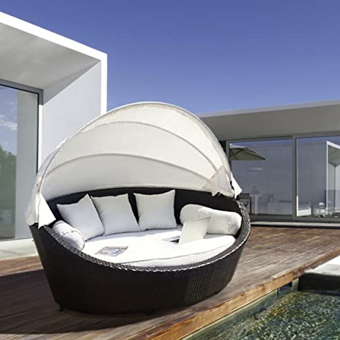 Amazon.de: Luxus Garten Rattan Sofa Möbel Outdoor Sofa Lounger Set ...