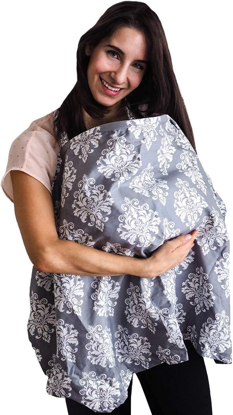 Nursing Cover Wide Privacy Covers for Moms Baby Breastfeeding Cover and Hooter Hider with Storage Pouch