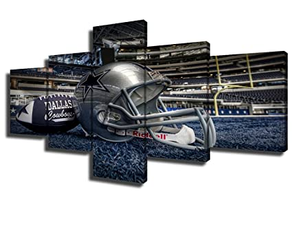 5 Panel Dallas Cowboys Canvas Prints Painting Wall Art NFL Sport Home Decor  Framed Pictures Modern e7770e8d7