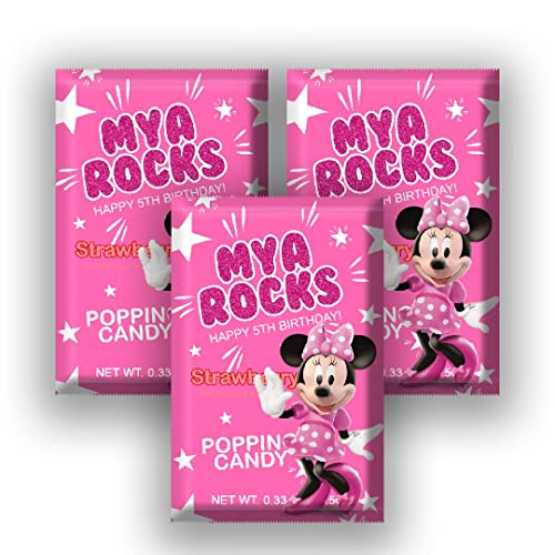 Amazon Com 12 Personalized Minnie Mouse Party Pop Rock Candy