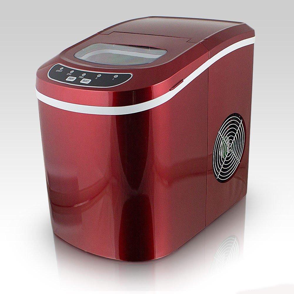 Machine à glaçons rouge - 12kg de glaçons en 24h Ice Maker Rouge MonMobilierDesign