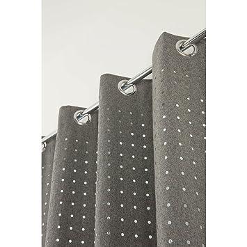 Rideau Contemporain 140 x 260 cm à Oeillets Style Industriel Tissu ...