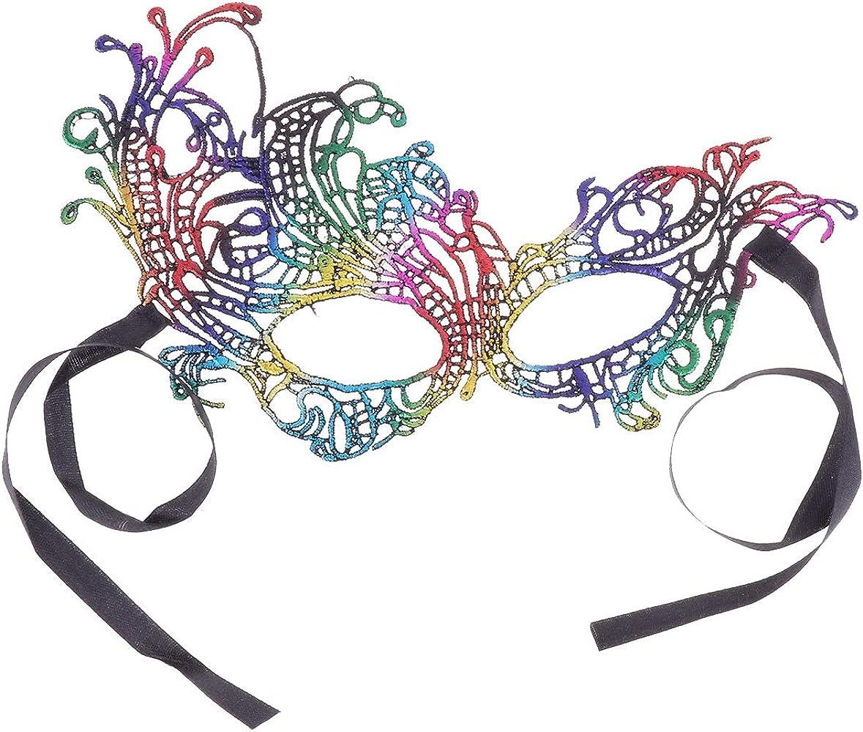 dPois Máscara de Encaje de Fénix Lujo Atractiva Mujer Antifaz ...