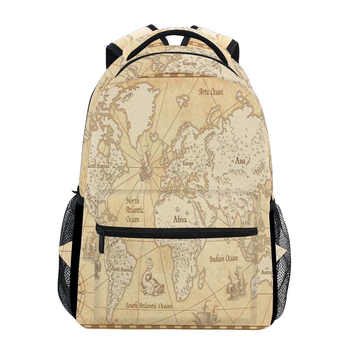 Amazon.com: AGONA Great Vintage World Map Stylish ... on map shoes, map luggage, map boots, map crossbody, map skirt, map phone case, map jacket, map scarf, map white, map trunk, map suitcase, map wallet, map sweater,