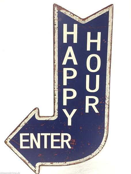 Cartel de chapa decorativa, Cartel Happy Hour Enterprise ...