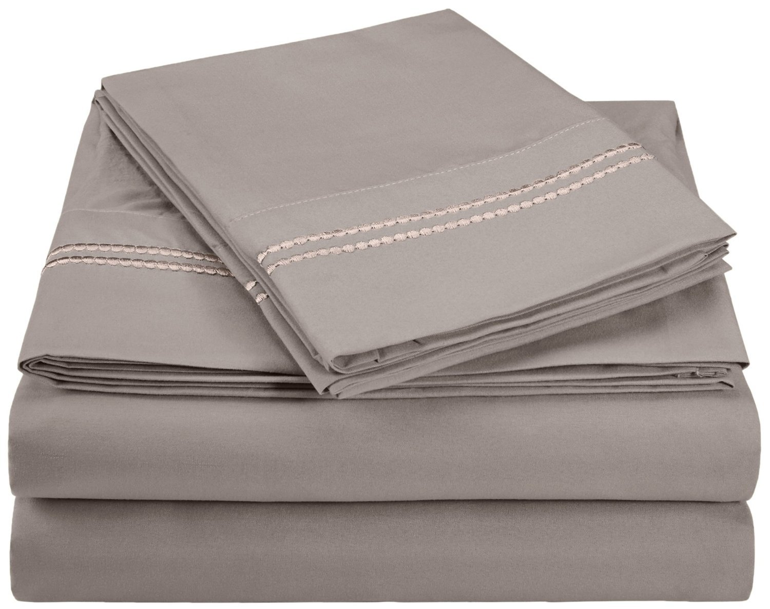 Super Soft, Light Weight, 100% Brushed Microfiber, Twin XL, Wrinkle Resistant, 3-Piece Sheet Set Aqua with 2-Line Embroidery in Gift Box Luxor Linens MF3000XLSH 2LAQ