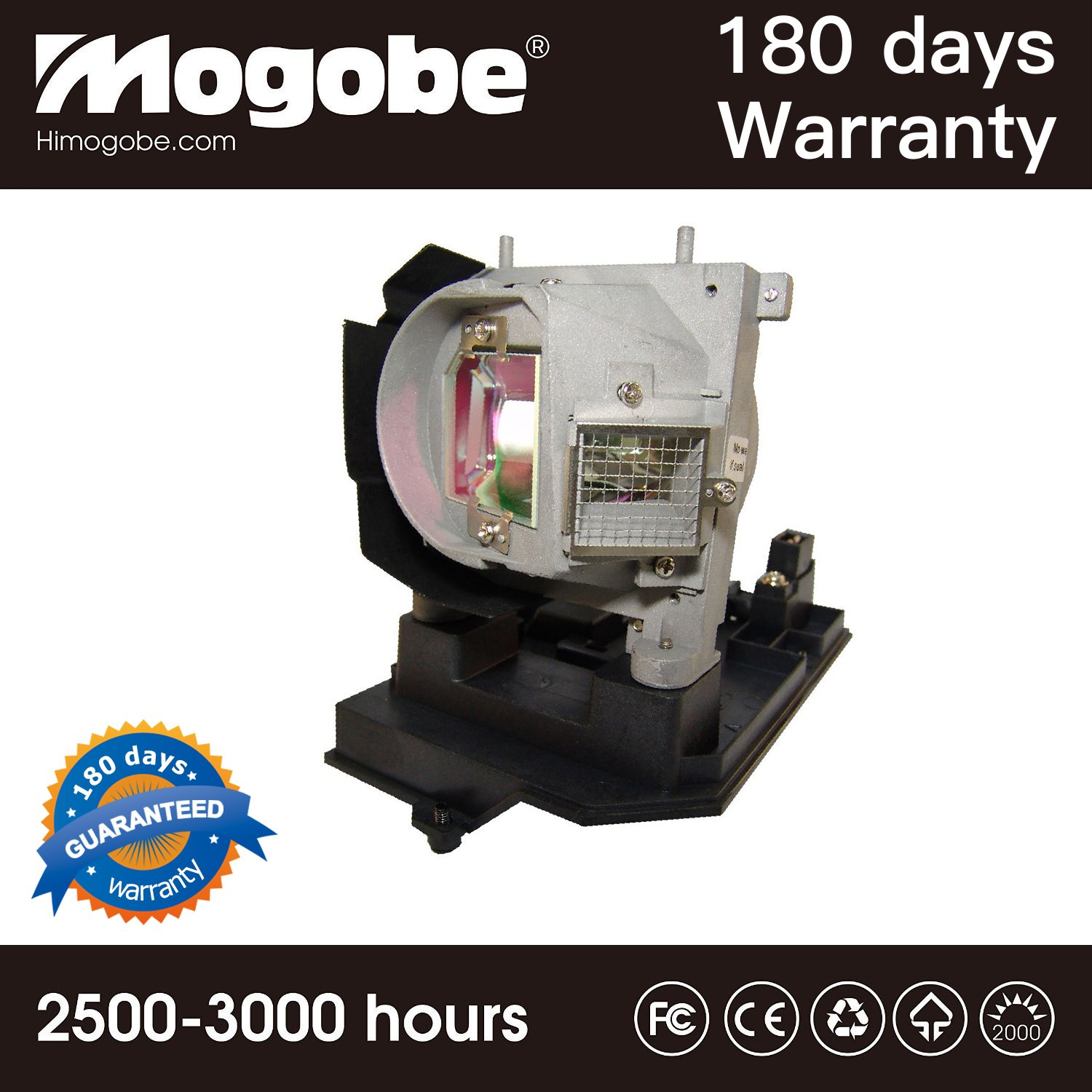 For 725-10263 331-1310 KT74N Projector Replacement Compatible Lamp with Housing for DELL S500 S500wi by Mogobe