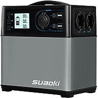 SUAOKI - 400Wh/120,000mAh Generador Portátil Solar, Cargador de Batería Almacenamiento Suministro de Energía (AC salida…