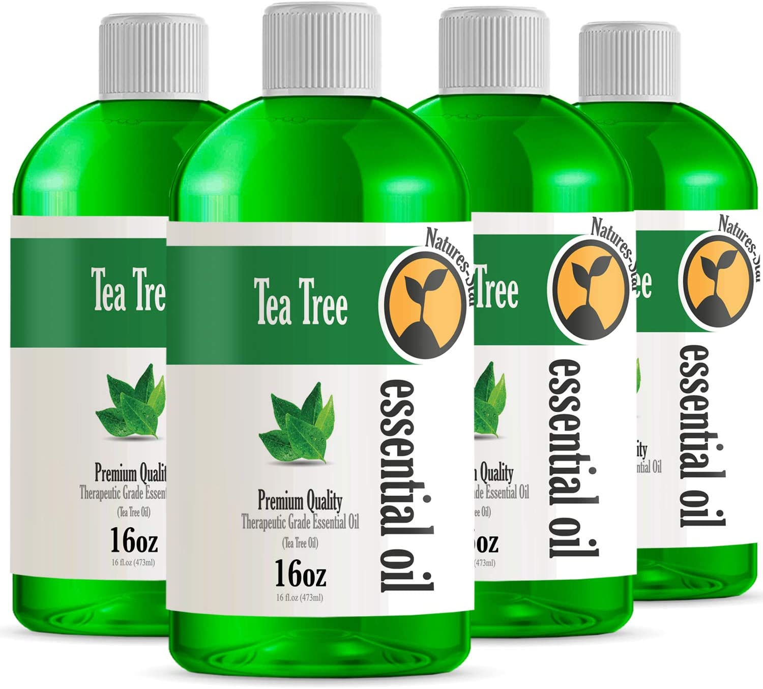4 Pack - Bulk Size Tea Tree Essential Oil (64OZ Total) - Therapeutic Grade Essential Oil - 4 Pack of 16oz Bottles