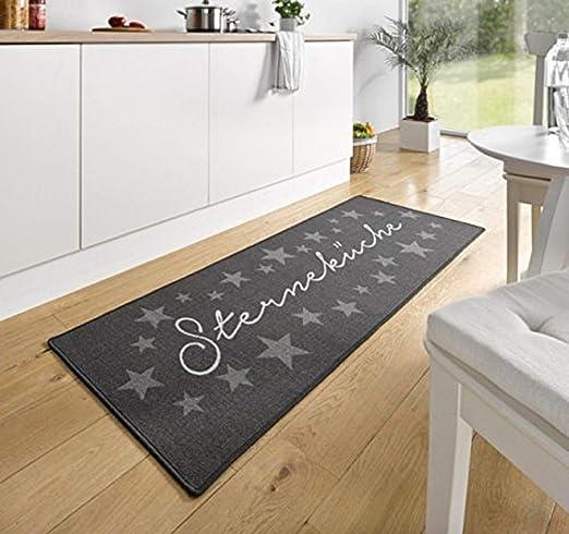 Küchenmatte grau Küchenteppich Läufer Teppich Fußmatte Küchenvorleger
