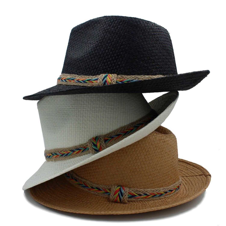 Fashion Women Men Summer Toquilla Straw Panama Beach Sun Hat for Elegant Summer Wide Brim Chapeu Sunbonnet