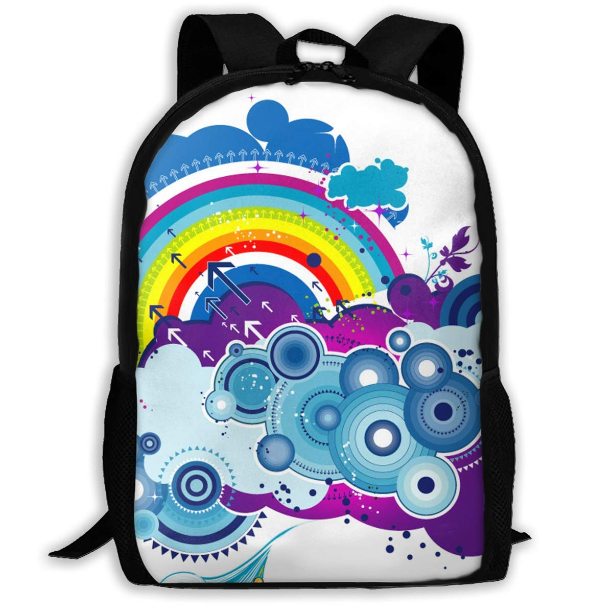 uhfgyhuihjf School Backpack Travel Hiking School Bags/Rainbow for Adult