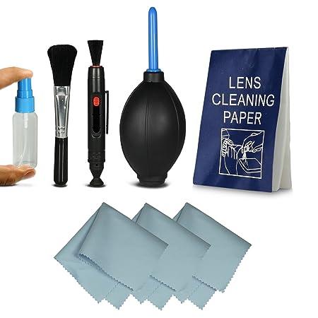 Kit de limpieza - Cleaning Kit Profesional para cámaras réflex digitales (Canon, Nikon, Pentax, Sony, Samsung) Incluye: Pluma de la lente: Amazon.es: ...