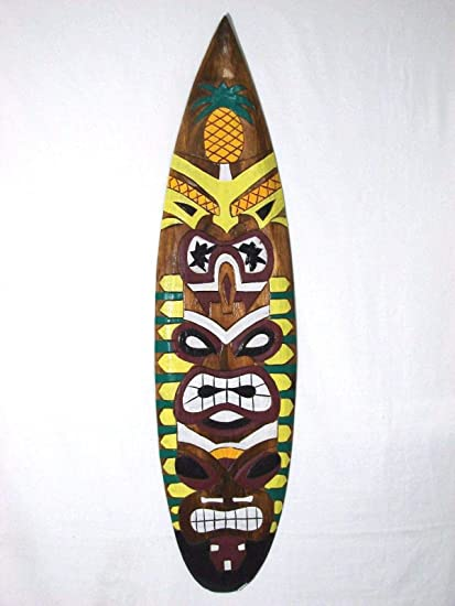 Ruskin352 Tiki - Máscara para Tabla de Surf, diseño de Estatua de Tiki de Madera