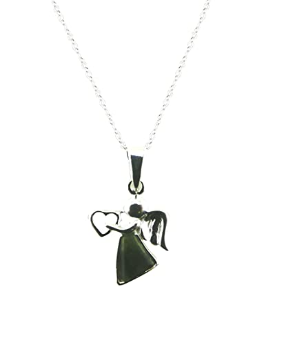 Amazon irish connemara marble sterling silver angel pendant irish connemara marble sterling silver angel pendant necklace aloadofball Images
